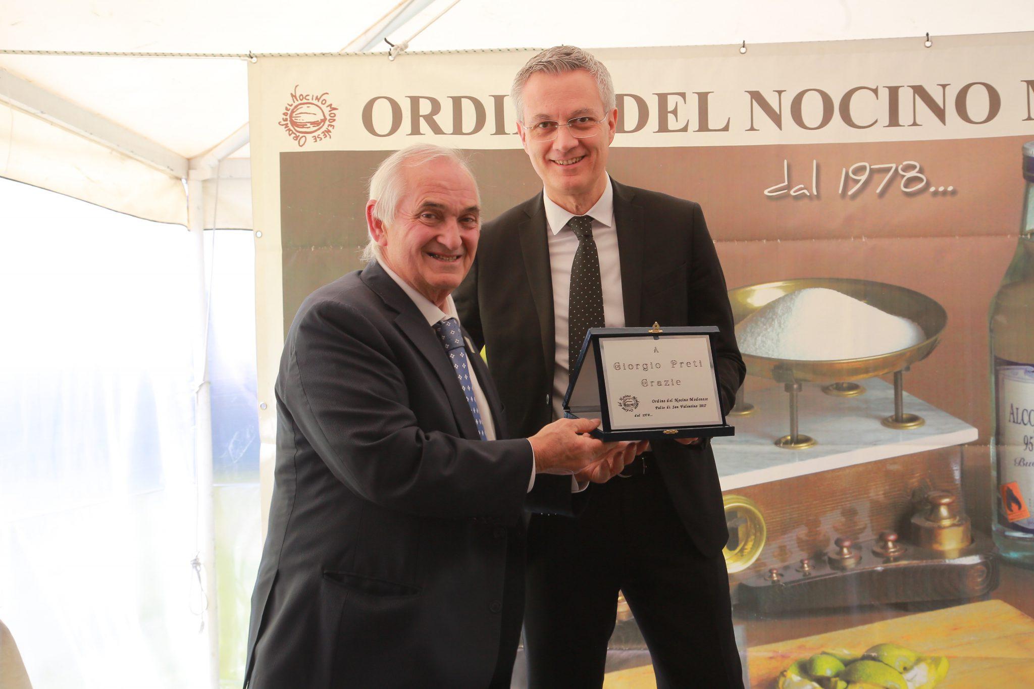 Ringraziamento a Giorgio Preti per il lavoro svolto